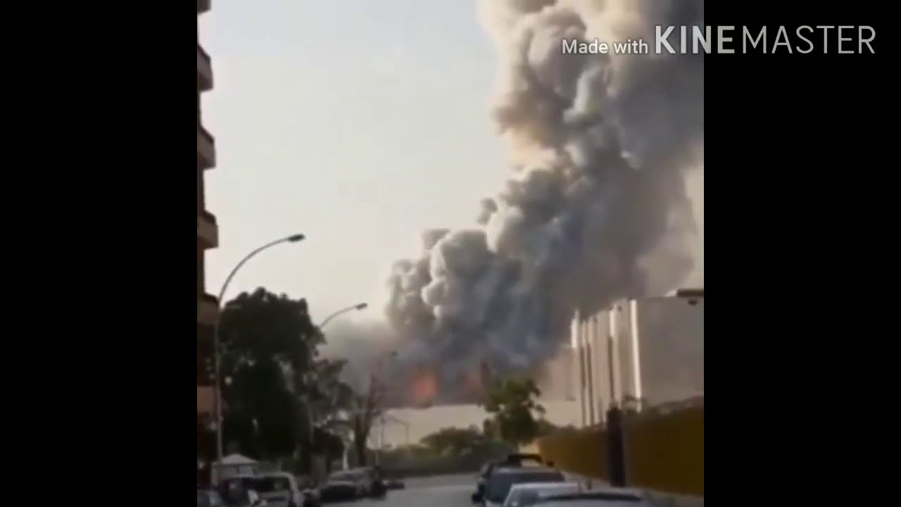 Explosion Occurs Near Beirut's port All clips
