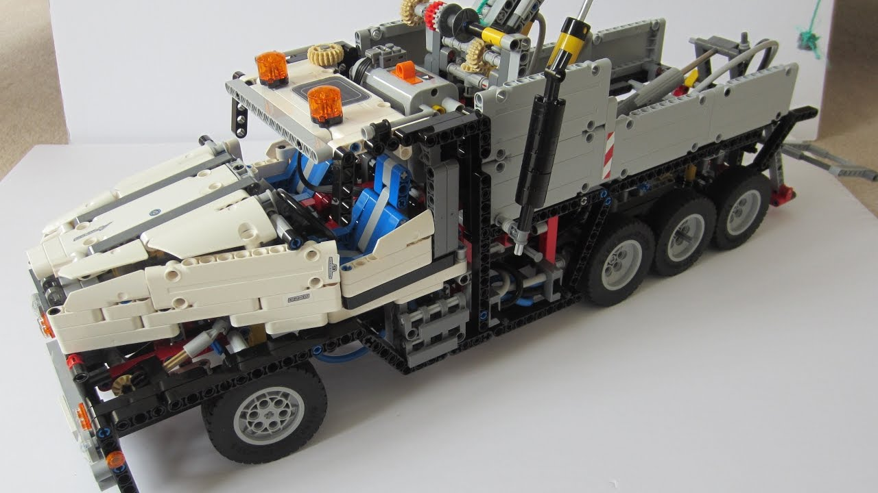 lego technic 42043 c model tow truck youtube. Black Bedroom Furniture Sets. Home Design Ideas