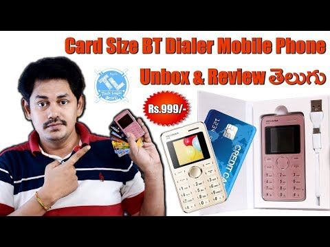 Kechaoda K116 Card Size BT Dialer Mobile Phone Unbox & Review || తెలుగు || Tech-Logic