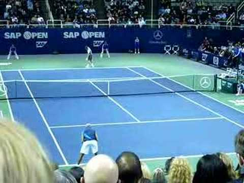 James Blake vs. Sam Warburg 1st Round at SAP Open Tennis