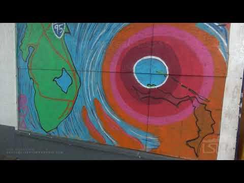 9-3-19 Flagler Beach, Florida - Pier Aerials - Waves - Squalls - Fuel Delivery - Mural To Dorian