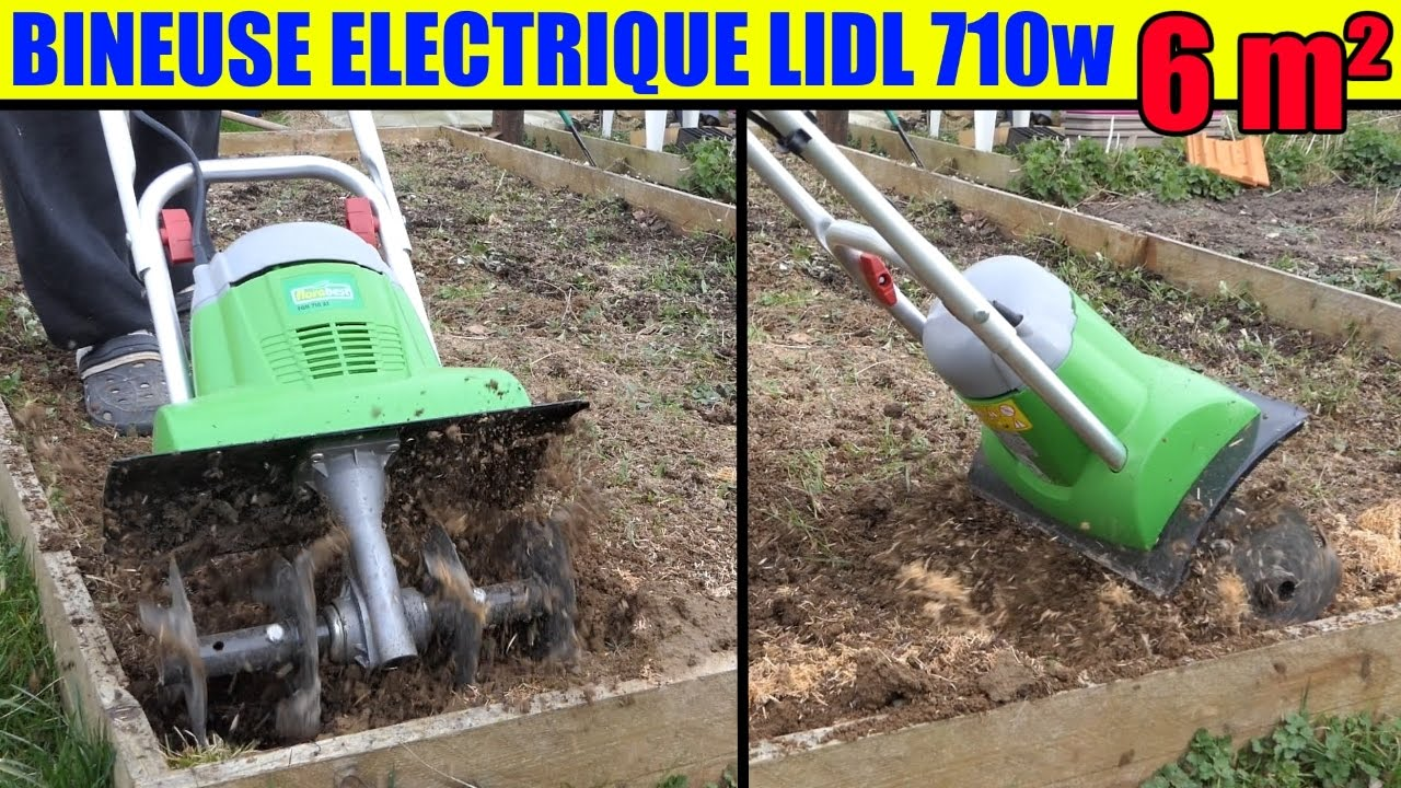 lidl bineuse electrique florabest 710w test terre argileuse 6 m garden cultivator. Black Bedroom Furniture Sets. Home Design Ideas