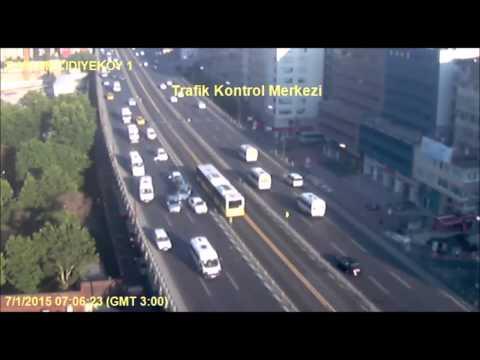 Mecidiyeköy E5'te Martı'nın sebep olduğu zincirleme kaza