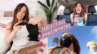 target haul + amazon fashion life hack!! vlogmas day 2