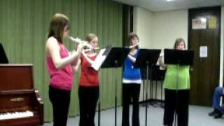 flute quartet- andante and caprice by Gluck