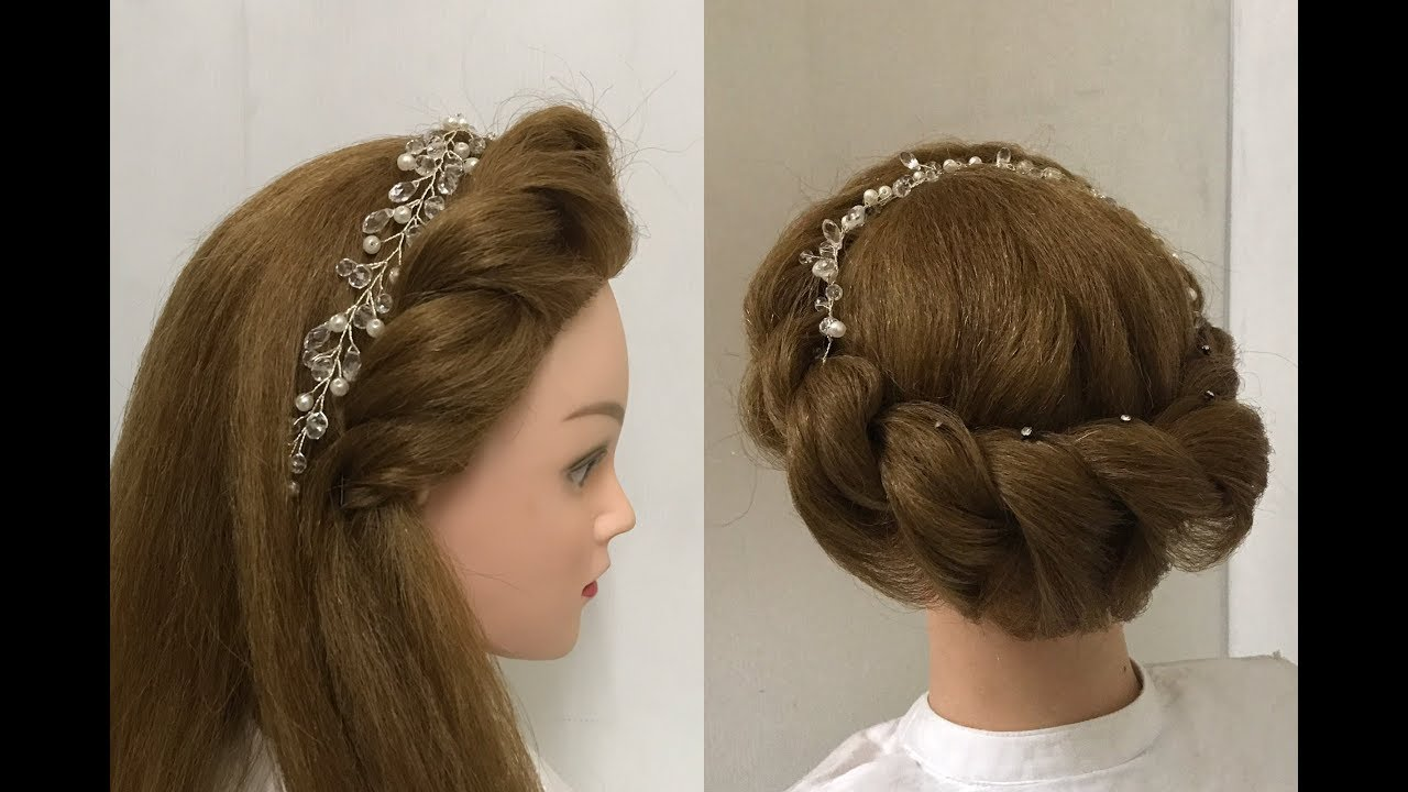 2 beautiful hairstyles with rope braid: easy hairstyles