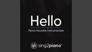 Hello (Lower Key) (Originally Performed By Adele) (Piano Karaoke Version)
