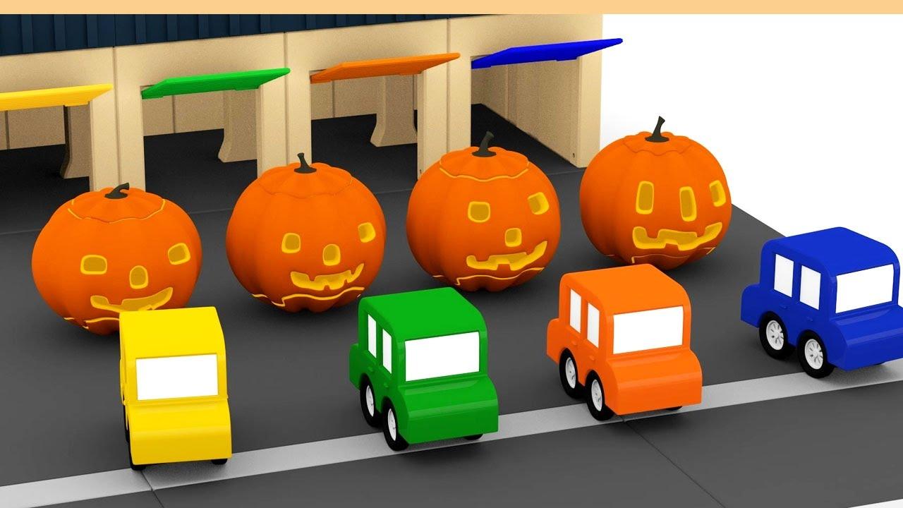 Cartoni animati per bambini halloween con le macchinine