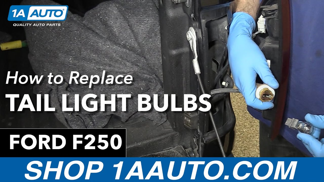 How to replace install tail light bulbs 2013 ford f 250 1a auto parts