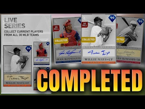 99 Willie Mays Unlocked! All Collections Completed! MLB The Show 19 Diamond Dynasty