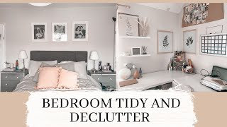 BEDROOM TIDY AND DECLUTTER - spring cl'ean