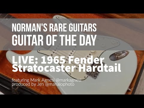 Norman's Rare Guitars - LIVE Guitar of the Day: 1965 Fender Stratocaster Hardtail Sonic Blue