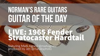 Norman's Rare Guitars - LIVE Guitar of the Day: 1965 Fender Stratocaster Hardtail Sonic Blue thumbnail