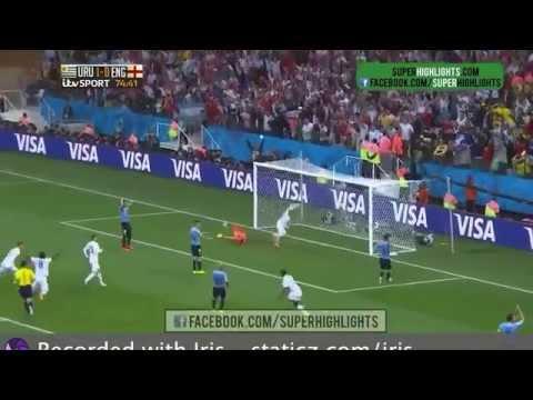Rooney goal vs Uruguay (world cup 2014 HD)