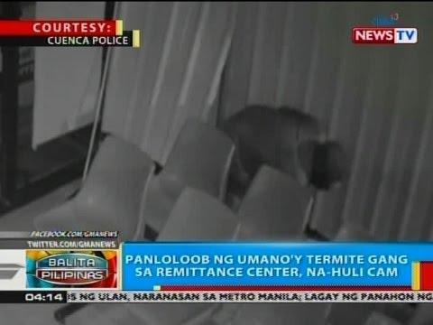BP: Panloloob ng umano'y termite gang sa remittance center, na-huli cam