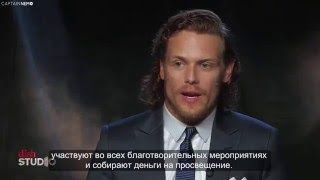 Sam Heughan and Caitriona Balfe at DISH Studio [RUS SUB]