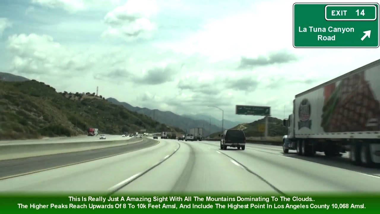 I 210 Los Angeles Ca The Foothill Freeway Exits 8 24