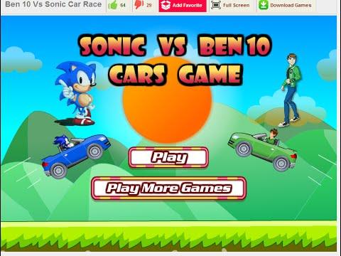Sonic Vs Ben 10 Cars Game - Car Games Online - YouTube