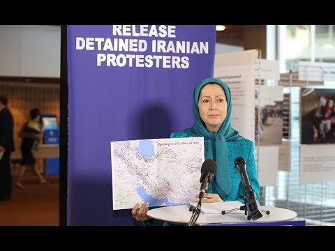 Maryam Rajavi at press conference in the council of Europe