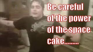Funny Pot cake experience.  Be careful with edibles.  Feel the love.
