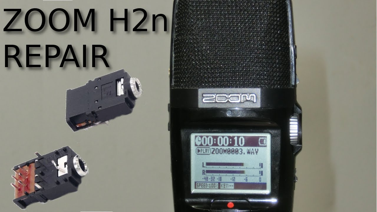 repair zoom h2n audio recorder [ 1280 x 720 Pixel ]