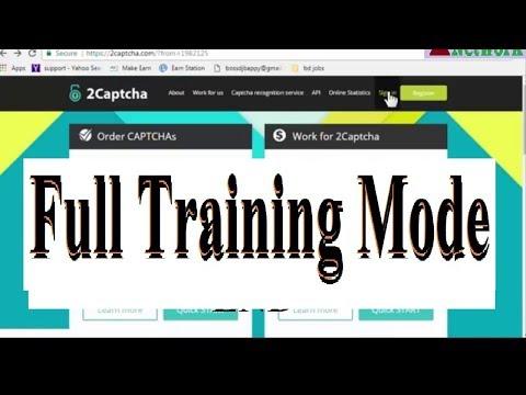 How to solve 2captcha full training mode or Exam test 2018 - YouTube