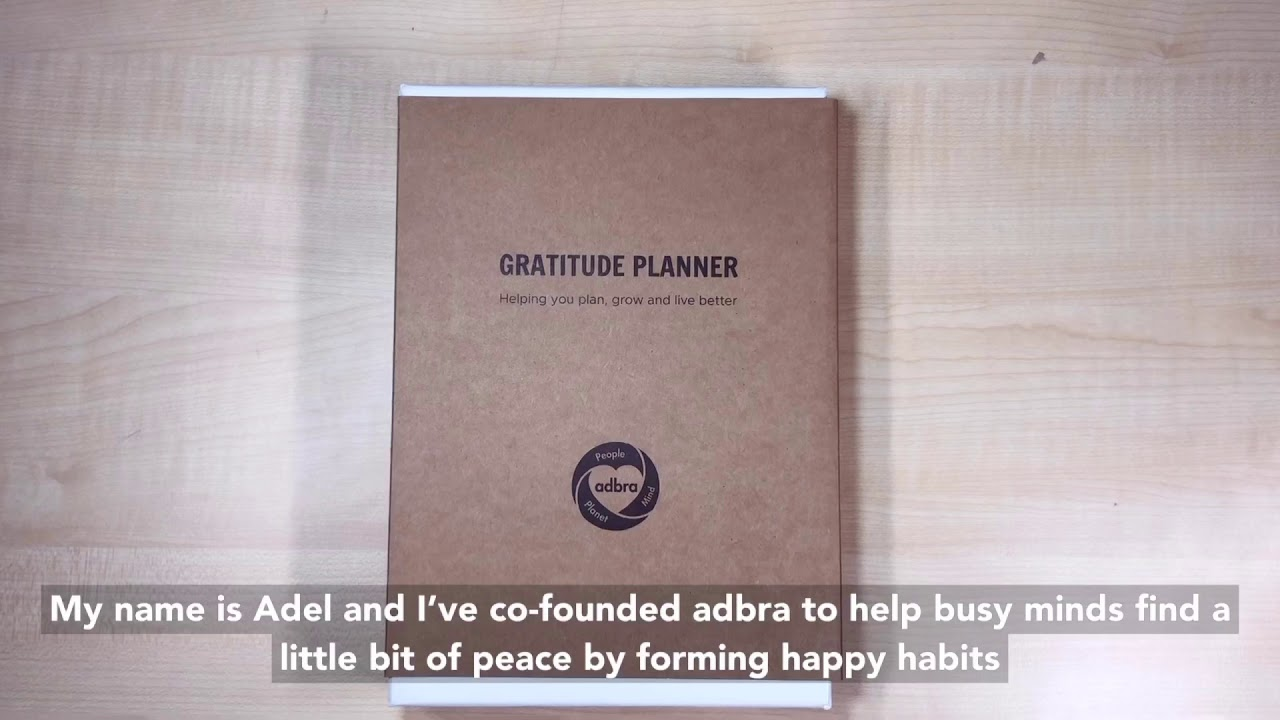 video adbra Gratitude Planner