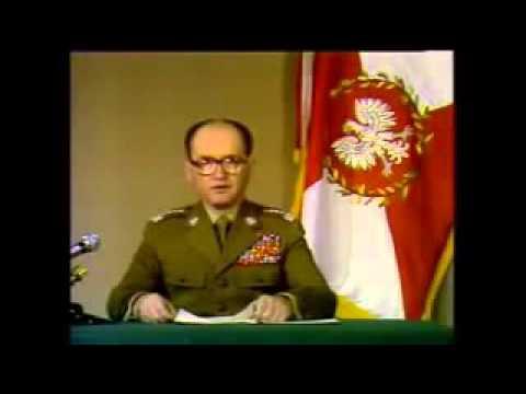 13.12.1981 r. - Wojciech Jaruzelski ogłasza wprowadzenie stanu wojennego