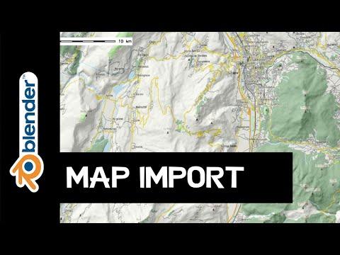 Blender: OpenStreetMap-Datei importieren