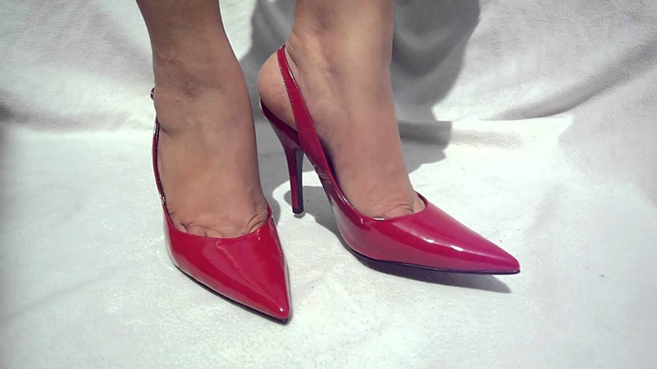 SCHUH RED SLINGBACK STILETTO HEELS  YouTube