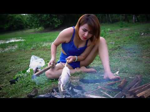OOP !! Amazing Cooking Fish – Village Pretty Girl Grill Fish Recipe my Country Food 2017