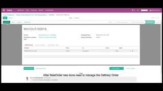 Manage Delivery order in Odoo