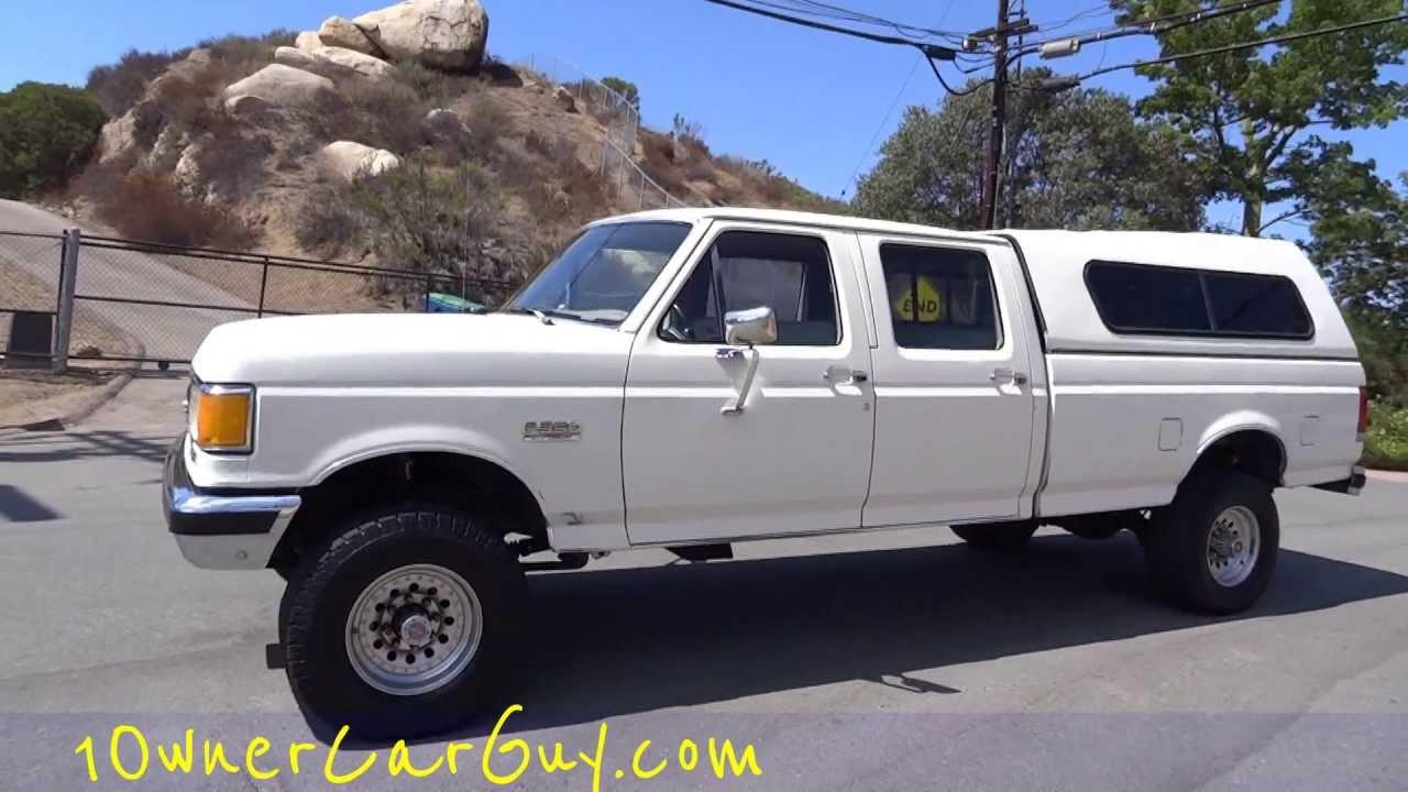 89 ford f 350 pickup truck f350 xlt lariet crew cab 4x4 7 5l 460 1 owner video youtube