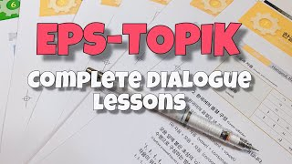 EPS-TOPIK Complete Korean Dialogue Lessons with English translation