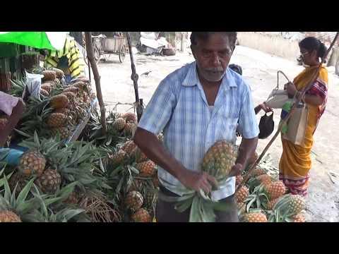 Street Foods Of India   Farm Fresh Pineapples, Sealdah Station Area, Kolkata, West Bengal, India