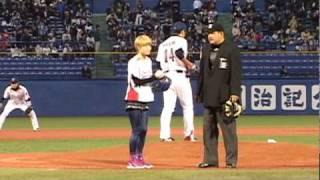 3月30日(火)神宮球場で行われたプロ野球 ヤクルト-中日戦の神宮開...