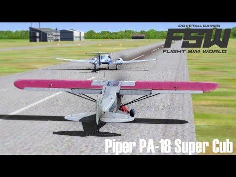 FLIGHT SIM WORLD I Piper PA-18 Super Cub ► Rügen - Stralsund I Multiplayer [Deutsch/HD]