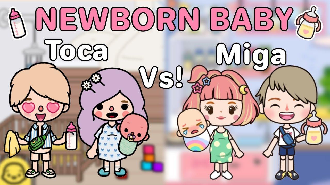 Download Newborn Baby Toca Vs Miga 🍼👶🏻  ท้อง,คลอดลูก,เลี้ยงเบบี้   Toca Life World   Miga World 🌎