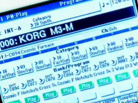 Korg M3 keyboard Workstation - Overview Demo