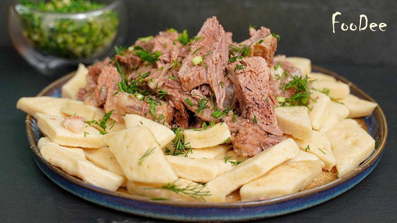 Из МУКИ, КЕФИРА И САМОГО дешевого мяса получается вкусный и сытный обед – Аварский хинкал