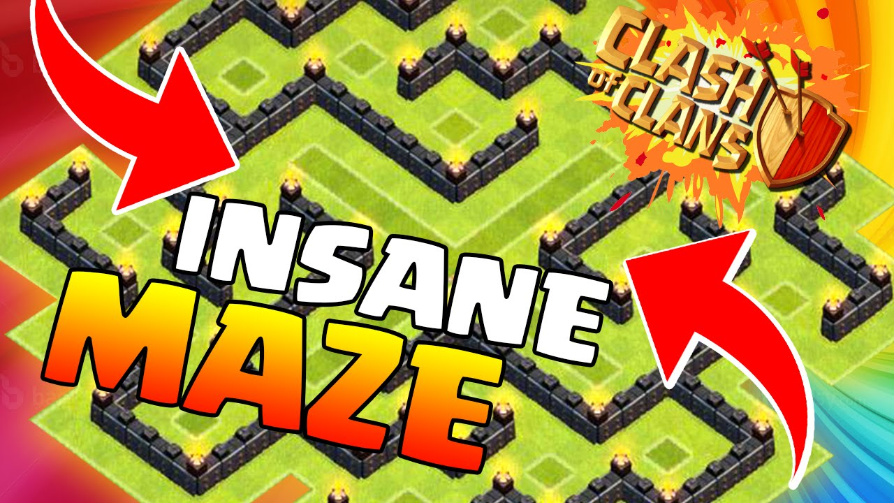 Clash of clans quot new quot crazy maze base quot wtf troll base th7 youtube