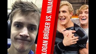 Logan & Jake Paul become Fortnite Streamer - Fortnite King Ninja doesn't fit that!
