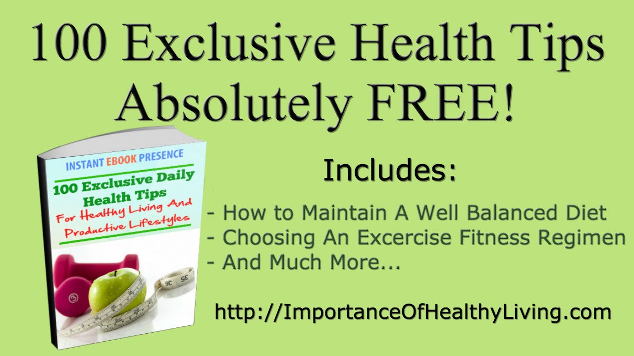100 Exclusive Daily Health Tips For Healthy Living And Productive Lifestyle  - YouTube