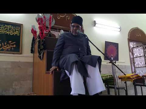 Khitaab of Maulana Baqar Zaidi from first Barsi Majlis of Shaair e Ihlebait Shahzad Zaidi Marhoom