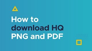 How to download HQ PNG and PDF formats with Piktochart PRO