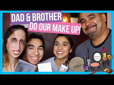 Dad & Brother do our Make Up!