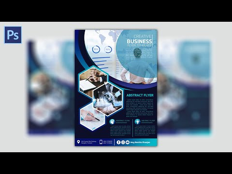 EP20 ออกแบบโปสเตอร์ทางการ How to Create a Professional Flyer in Photoshop (Business Flyer)