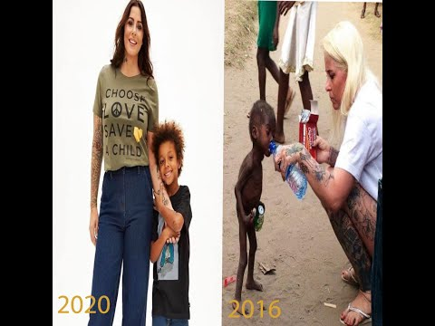 ِCharming child in Nigeria his family abandoned him and Danish woman anja ringgren lovén saved him
