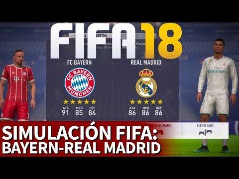 FIFA 18 | Bayern-Real Madrid: Simulación de la ida de semifinales de Champions League | Diario AS