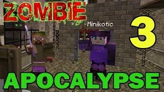 ч.03 Прохождение карты Minecraft - Zombie Apocalypse (миссия 3)
